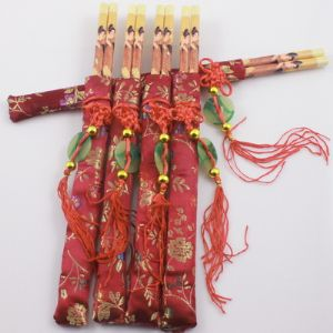 Chinese chopsticks, Bamboo, Natural colours, 5 Pairs, 24cm, (CS083)